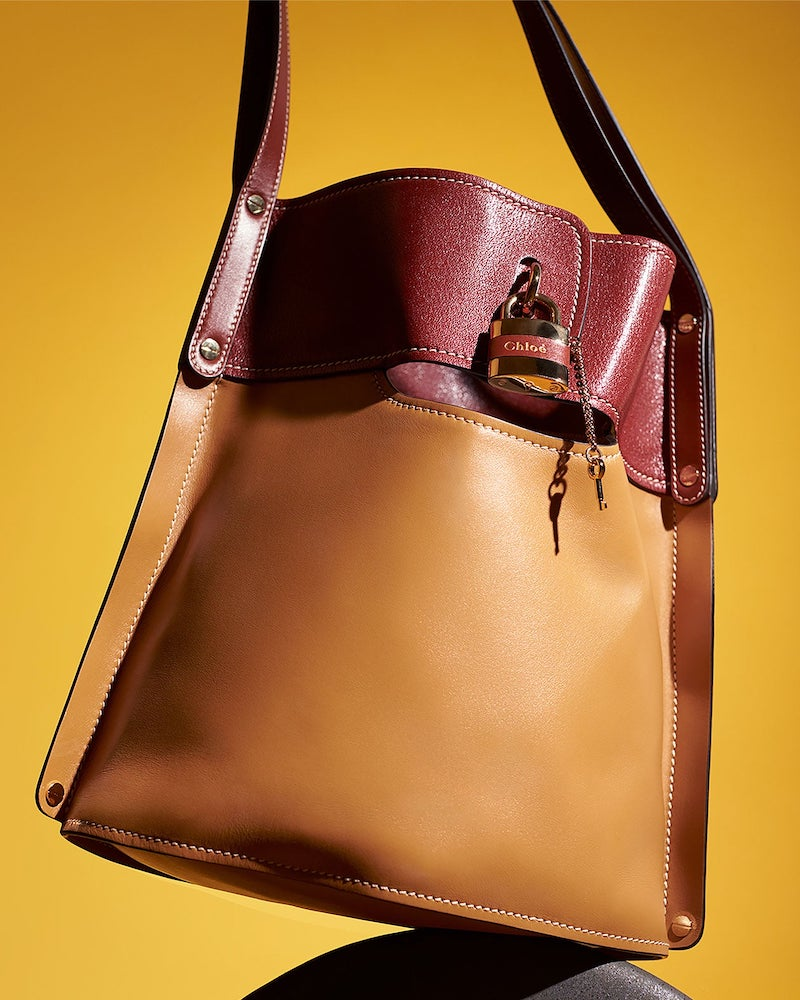 Chloé Aby Large Leather Bucket Bag
