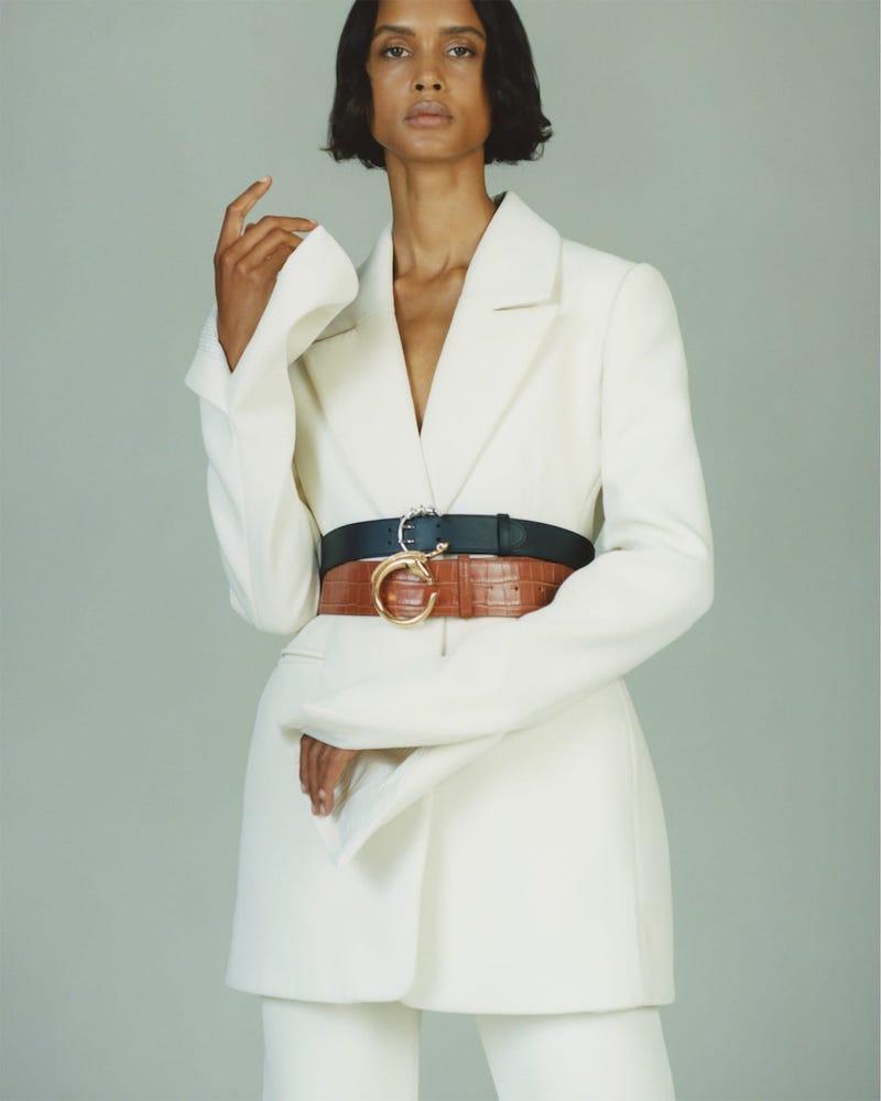Chloé Snake C-Buckle Leather Waist Belt