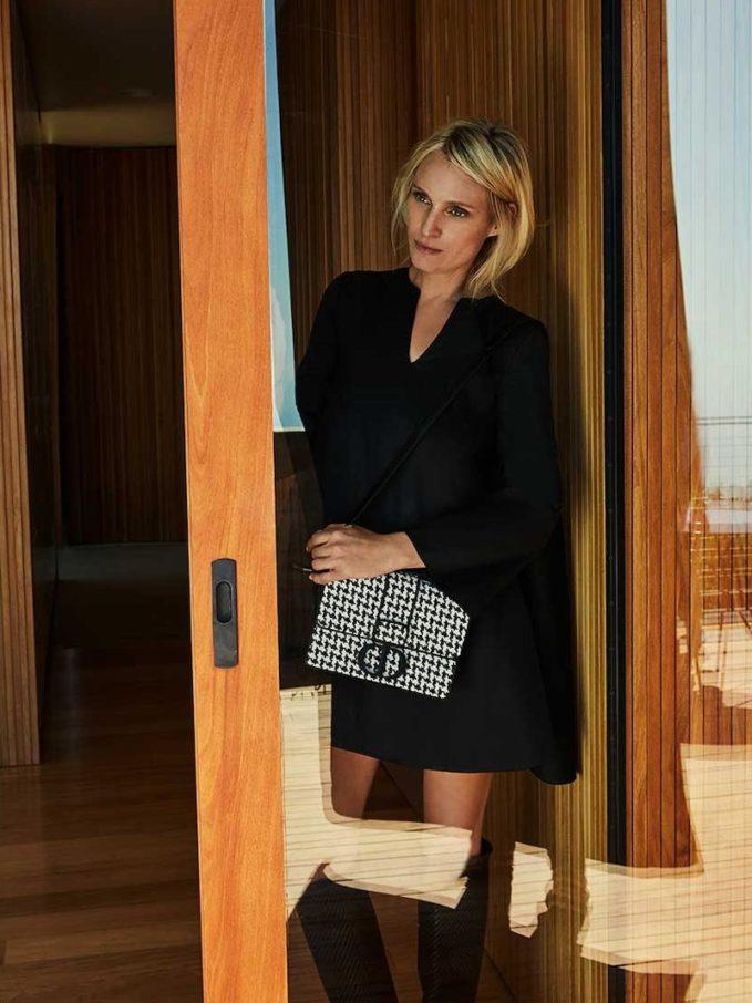 Dior Houndstooth 30 Montaigne Bag