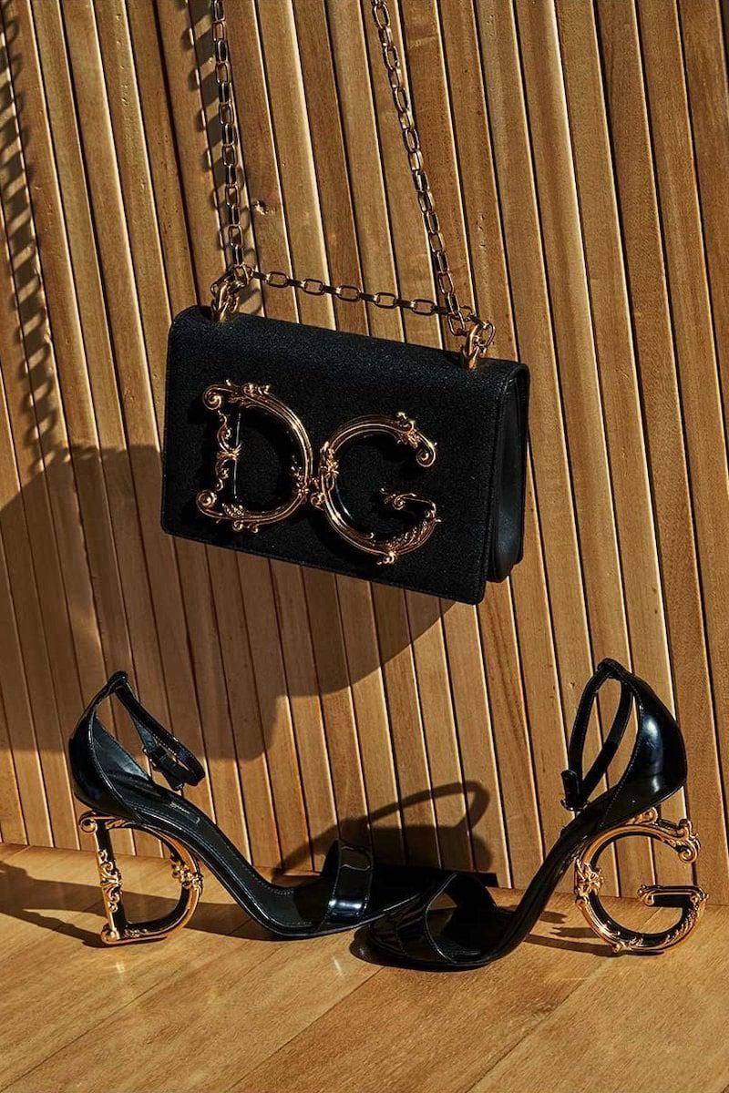 Dolce & Gabbana Baroque Small Shimmery Crossbody Bag