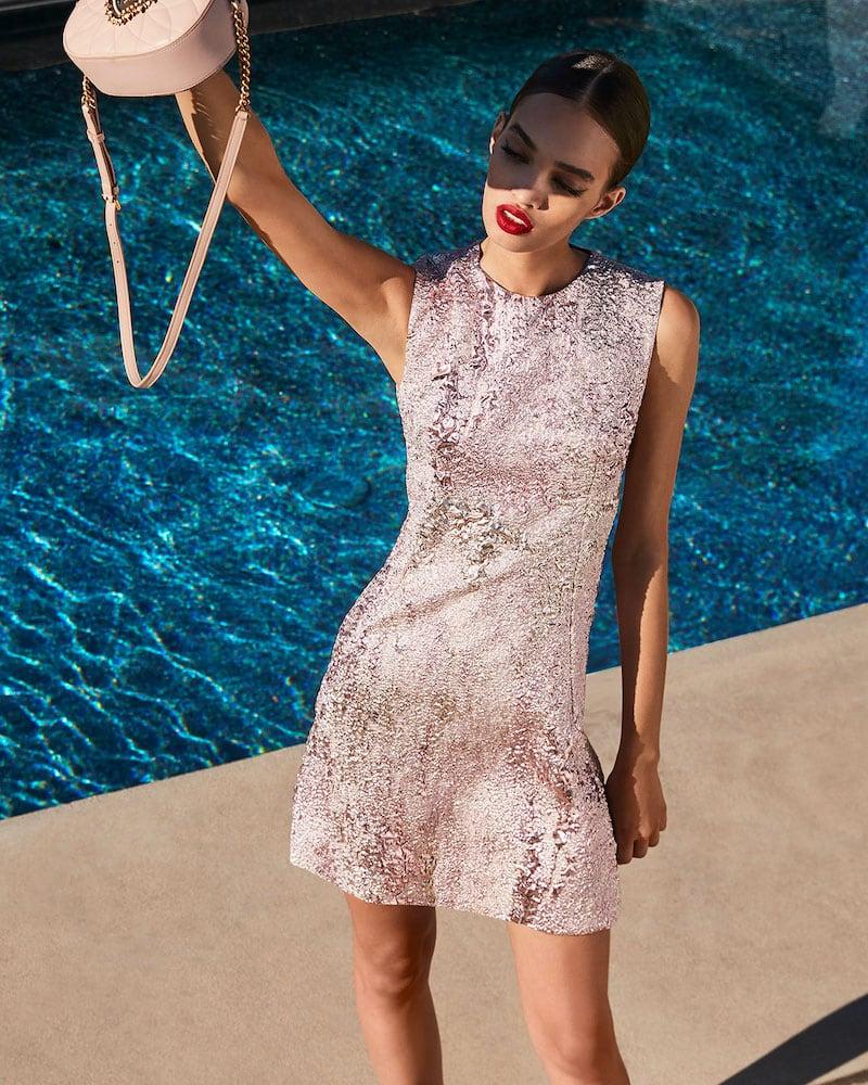 Dolce & Gabbana Metallic Flared Cocktail Dress