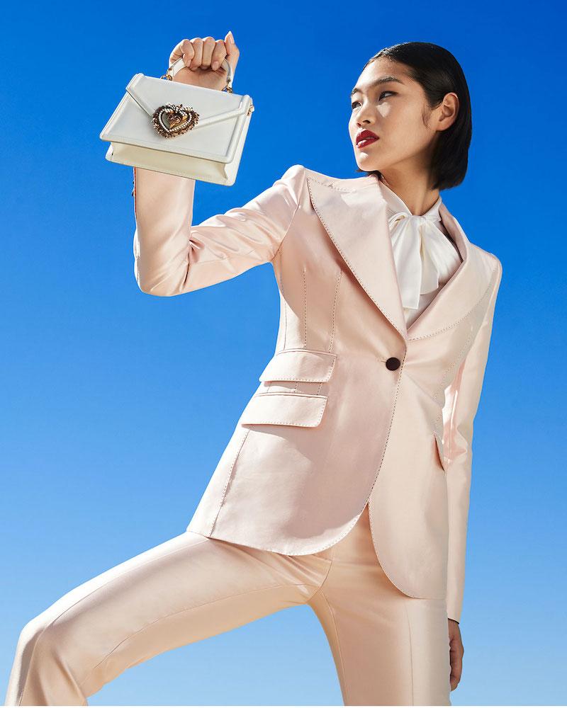 Dolce & Gabbana Silk Satin One-Button Jacket