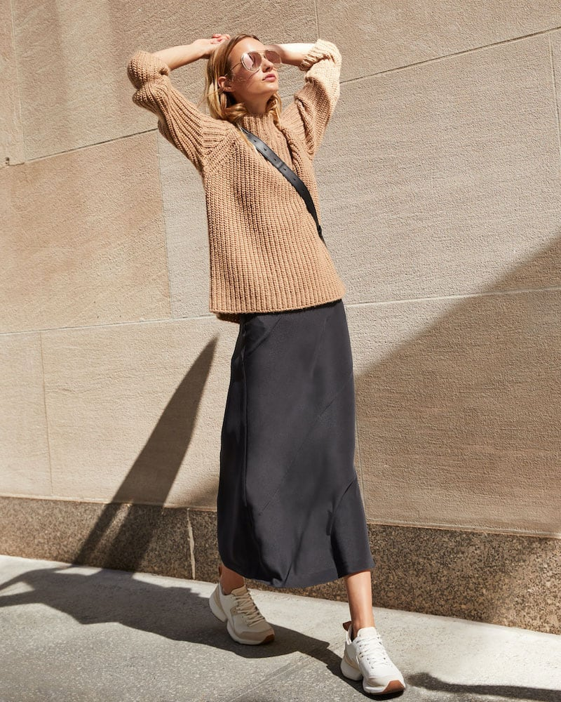 Eileen Fisher Funnel-Neck Wool/Cashmere Sweater