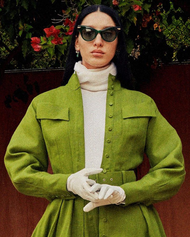 Emilia Wickstead Appolina Belted Linen Shirtdress