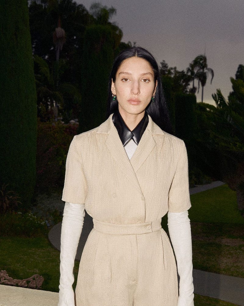 Emilia Wickstead Eudora Belted Cotton-Blend Seersucker Blouse
