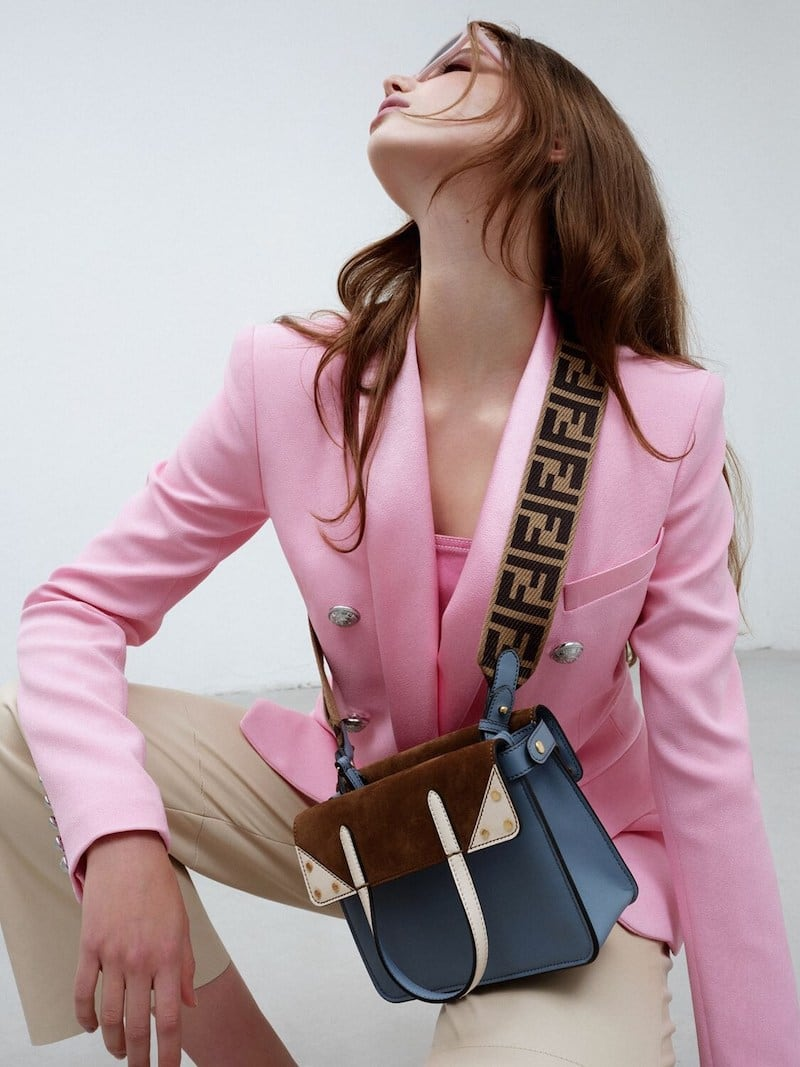 Fendi SM Flip Top Handle Bag