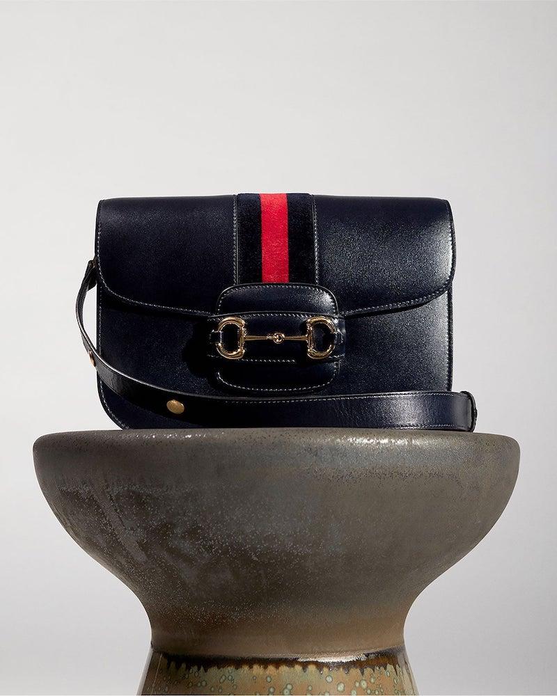Gucci 1955 Horsebit Saddle Leather Shoulder Bag