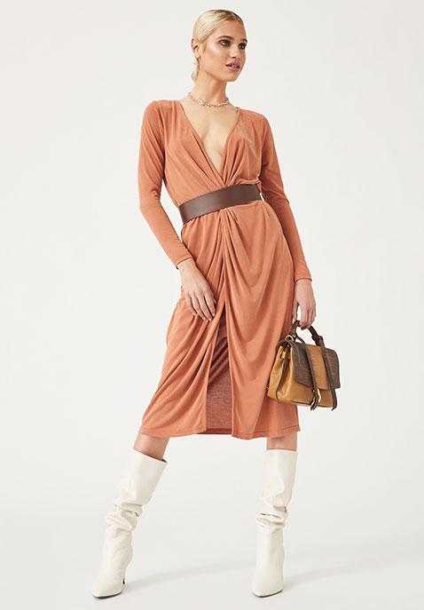 L Academie The Judy Midi Dress