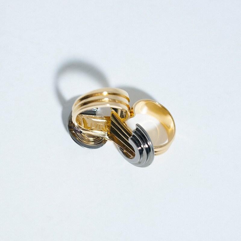 LVR Exclusive Leda Madera Meryl Bicolor Thick Ring