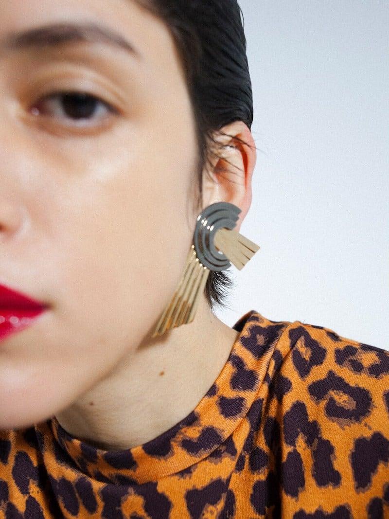 LVR Exclusive Leda Madera Meryl Clip on Earring