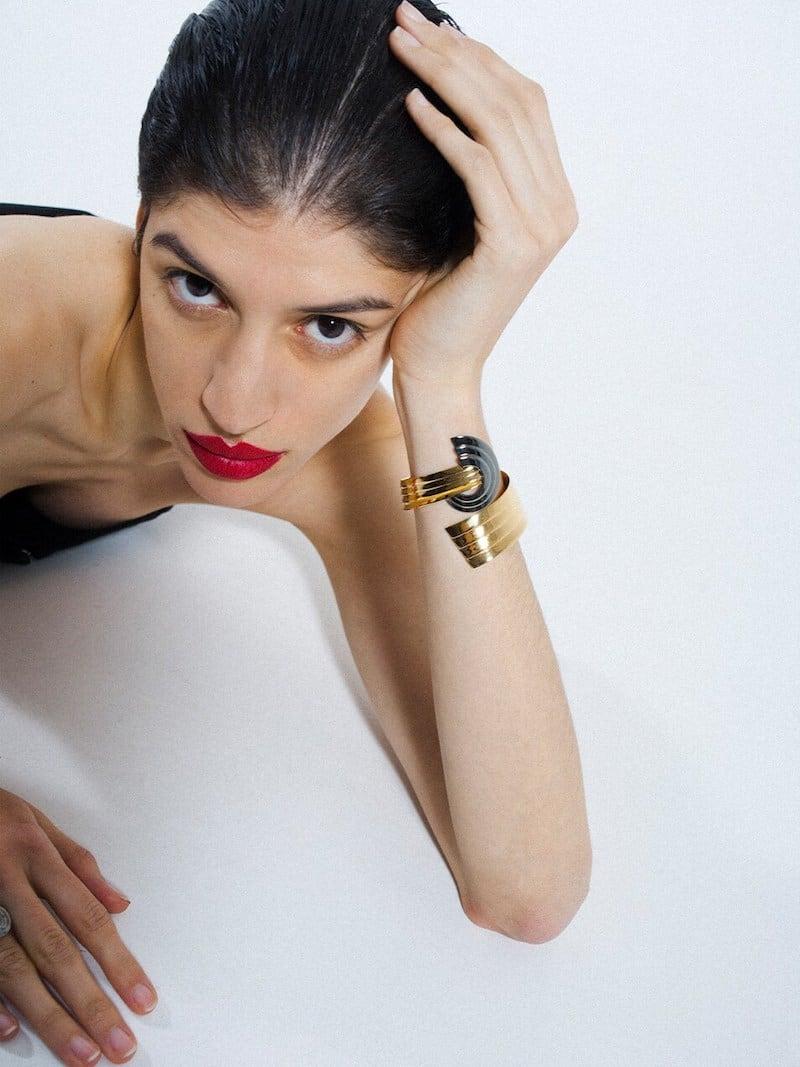 LVR Exclusive Leda Madera Meryl Cuff Bracelet