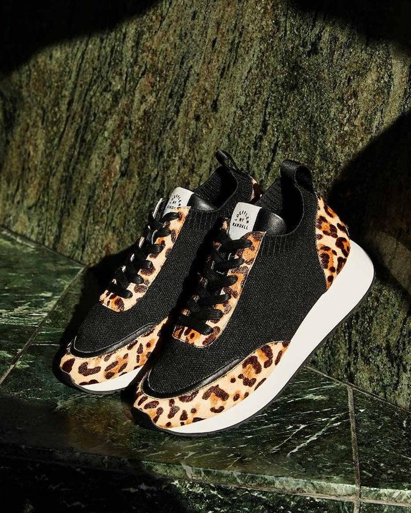 Loeffler Randall Remi Leopard Leopard-Print Sneakers
