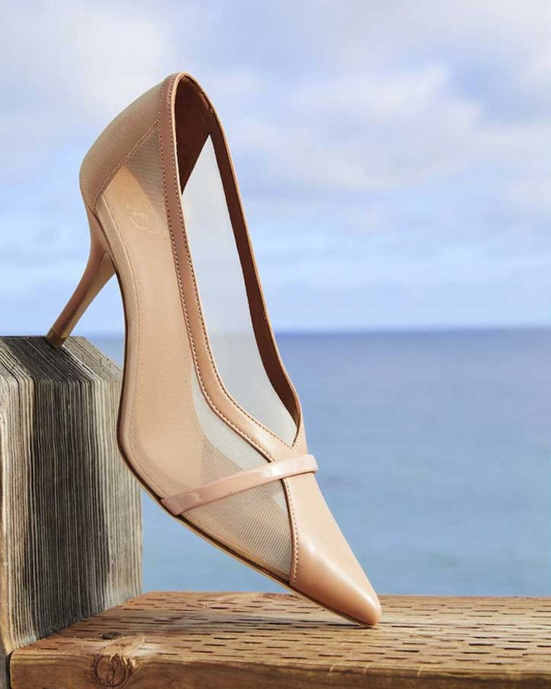 Malone Souliers Brook 70mm Sheer Mesh Pumps