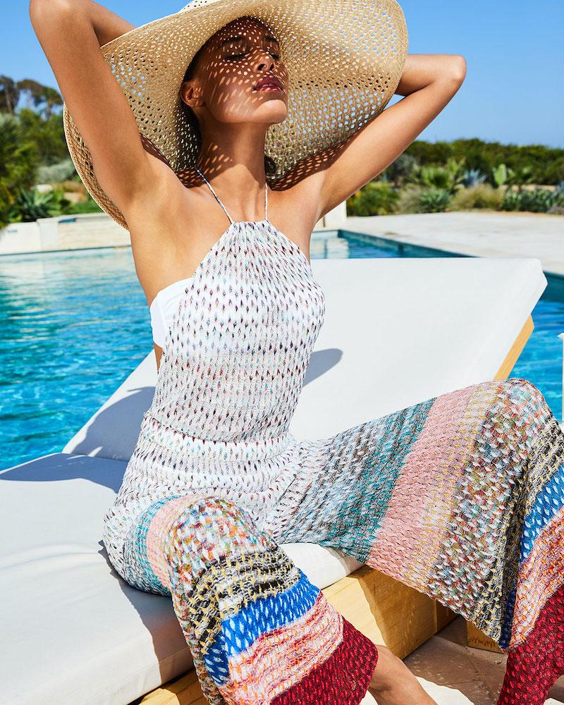 Missoni Mare Wide-Stripe Printed Coverup Jumpsuit