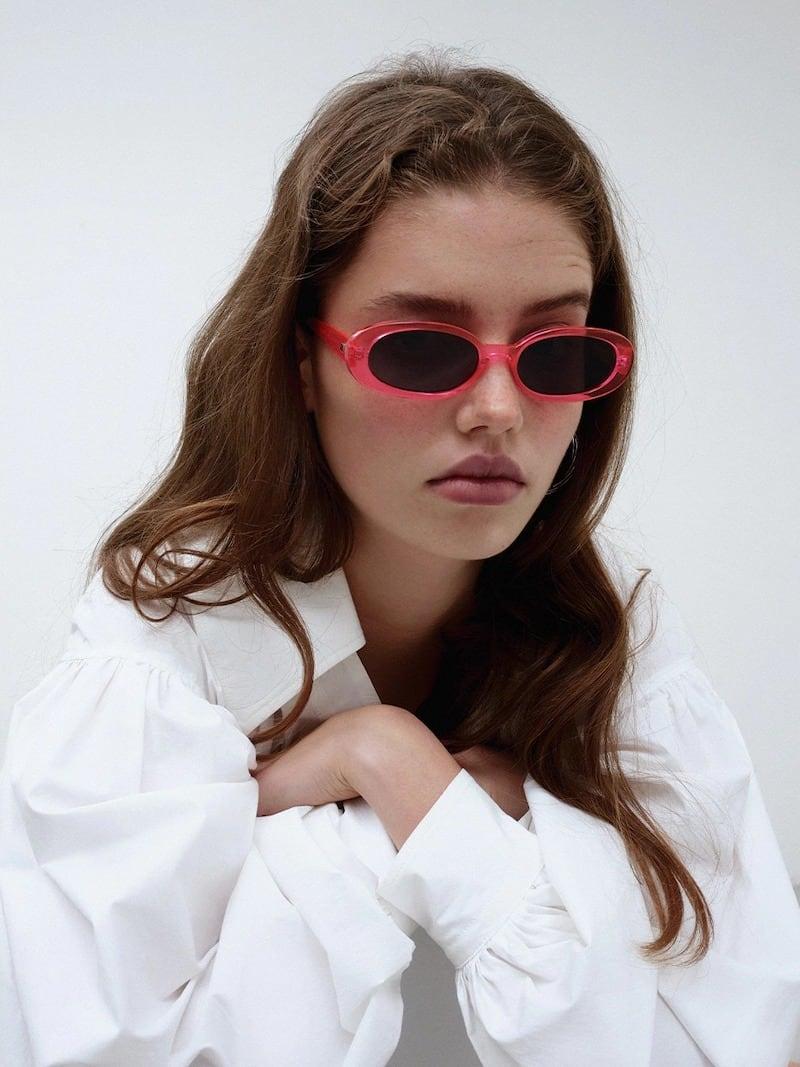 Moncler Logo Cat-Eye Pantograph Sunglasses