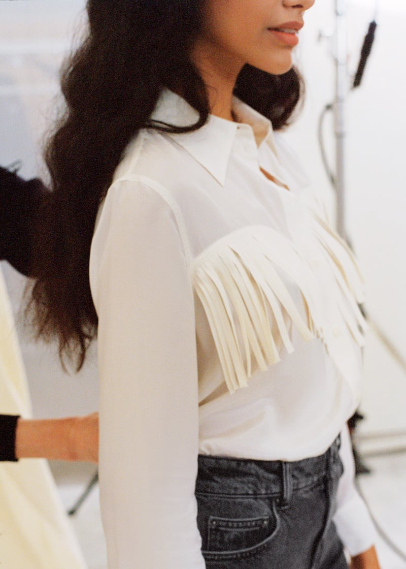 & Other Stories Button Up Fringe Shirt