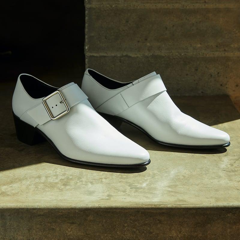 Pierre Hardy Joni Leather Buckle Loafers