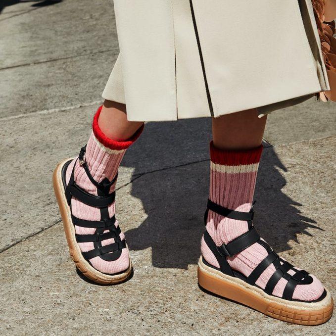 Prada Platform Crisscross Sandals