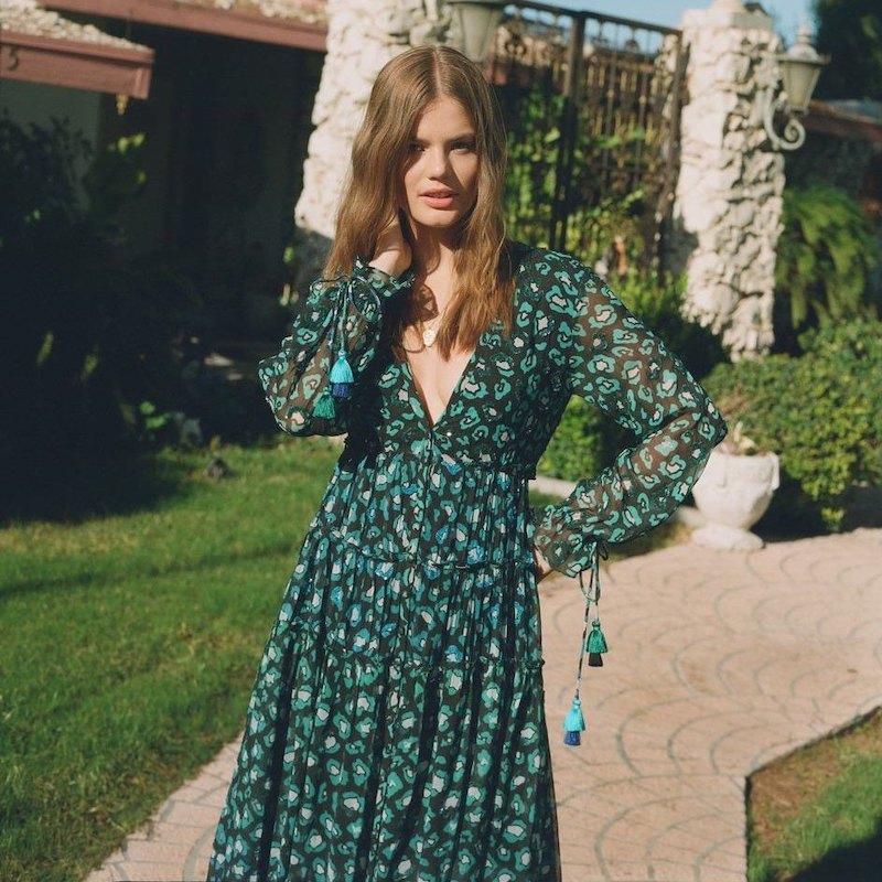 ROCOCO SAND Long Sleeve Printed Dress