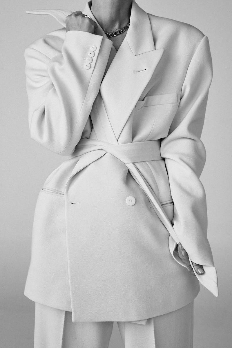 Raey Exaggerated-Shoulder Wool-Blend Twill Tux Blazer
