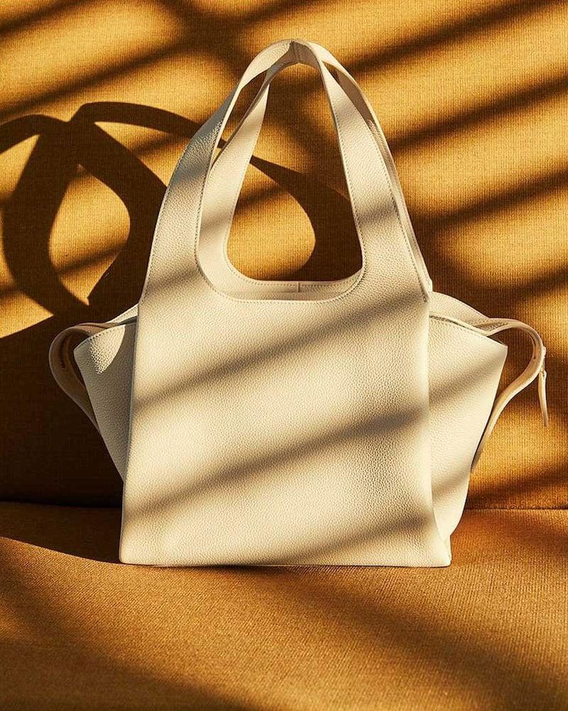 The ROW TR1 Matte Grain Satchel Bag