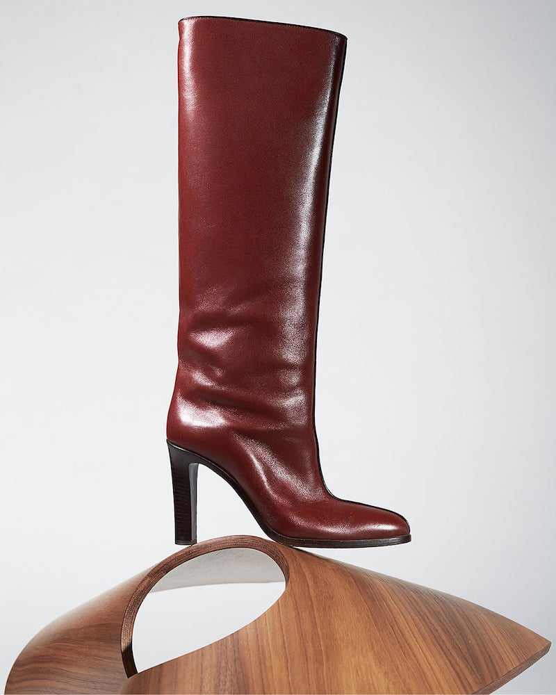 The Row Piped Knee-High Leather Boots