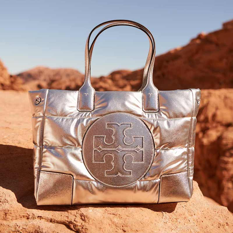 Tory Burch Ella Puffy Quilted Metallic Tote