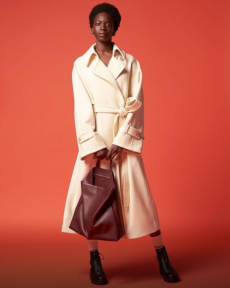 Tsatsas Fluke Grained-Leather Tote Bag