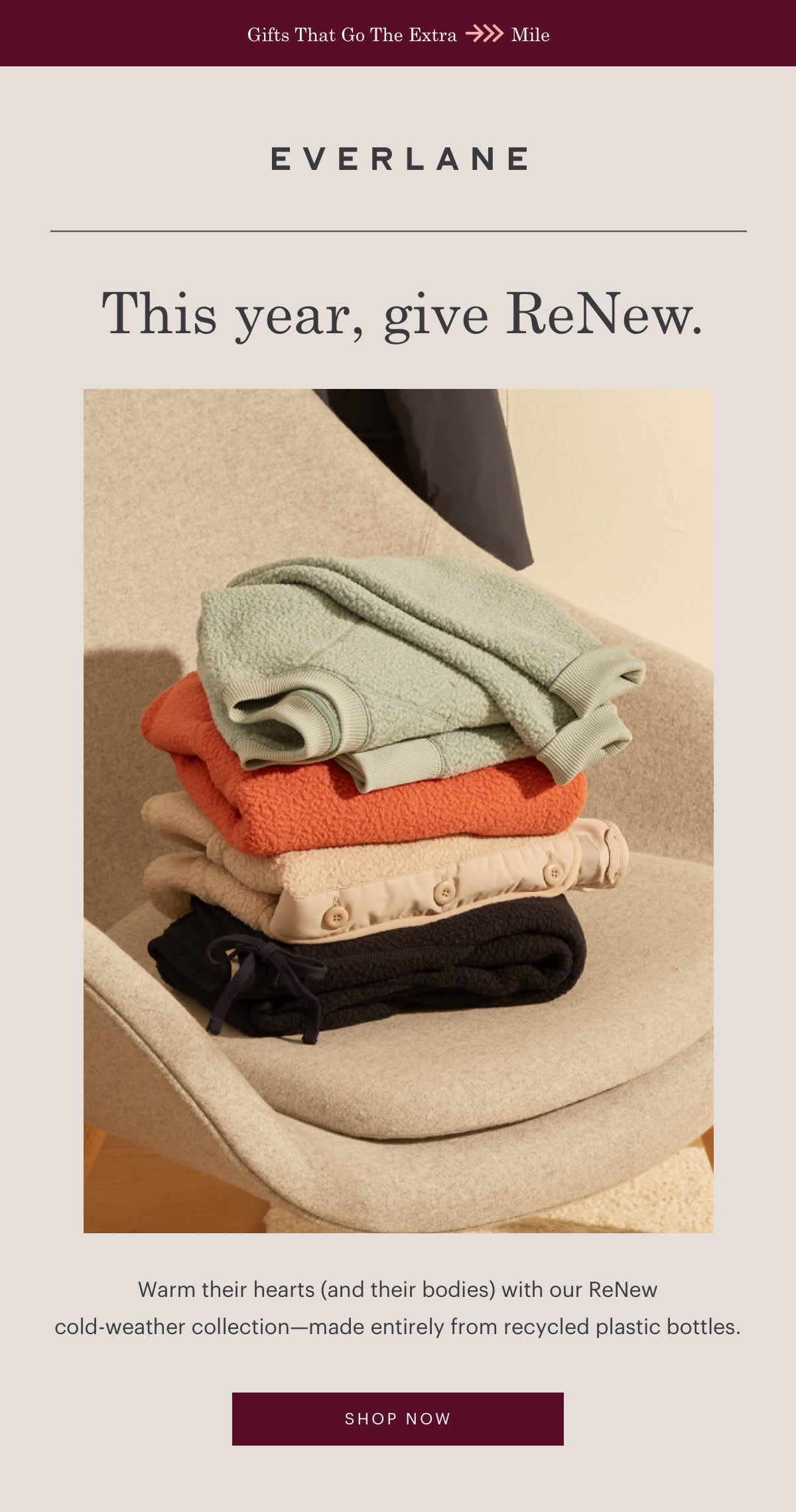 Everlane Holiday 2019 Gift Guide: Everlane ReNew Collection