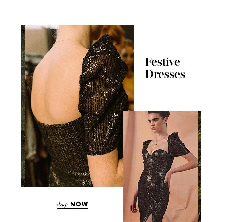 Festive Dresses. Shop Now.