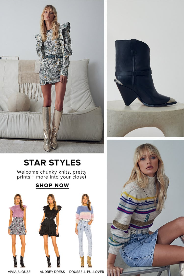 Star STyles. Welcome chunky knits, pretty prints + more into your closet. Shop now.