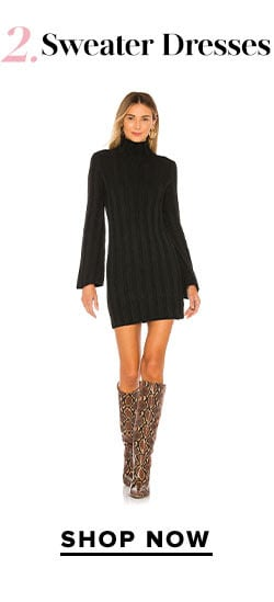 Get With Knit: Shop Sweater Dresses