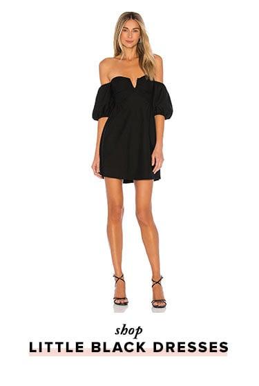 Shop little black dresses.