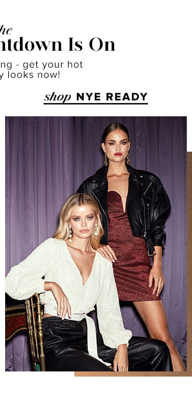 The Holiday Countdown Is On. The clock is ticking - get your hot holiday party looks now! Shop nye ready.