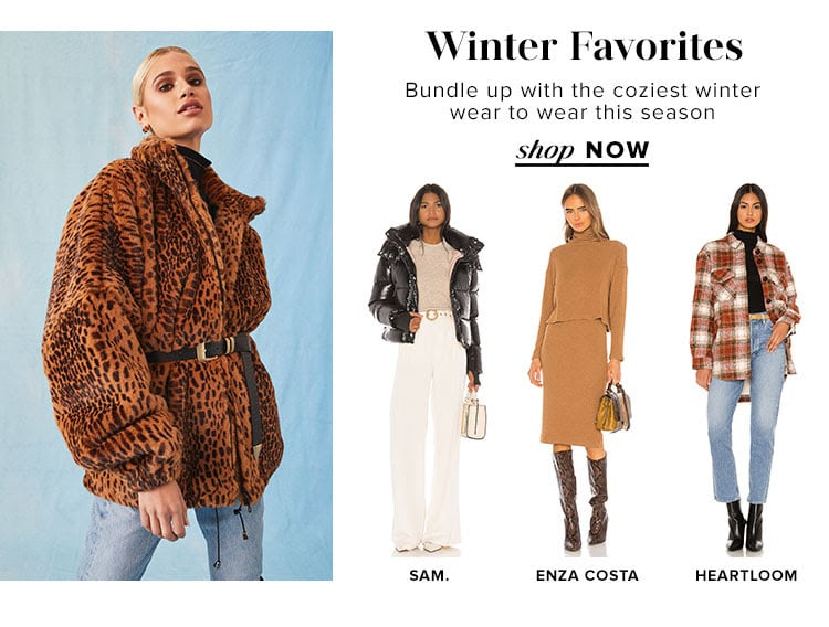 Winter Favorites. Bundle up with the coziest winter wear to wear this season. Shop now.