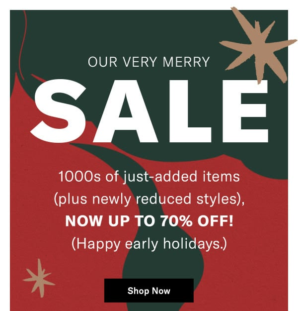 SHOPBOP Early Holiday Sale: 1000s of New Styles Added