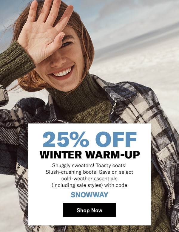 Winter Warm-Up: 25% Off Winter 2019/2020 Essentials at SHOPBOP