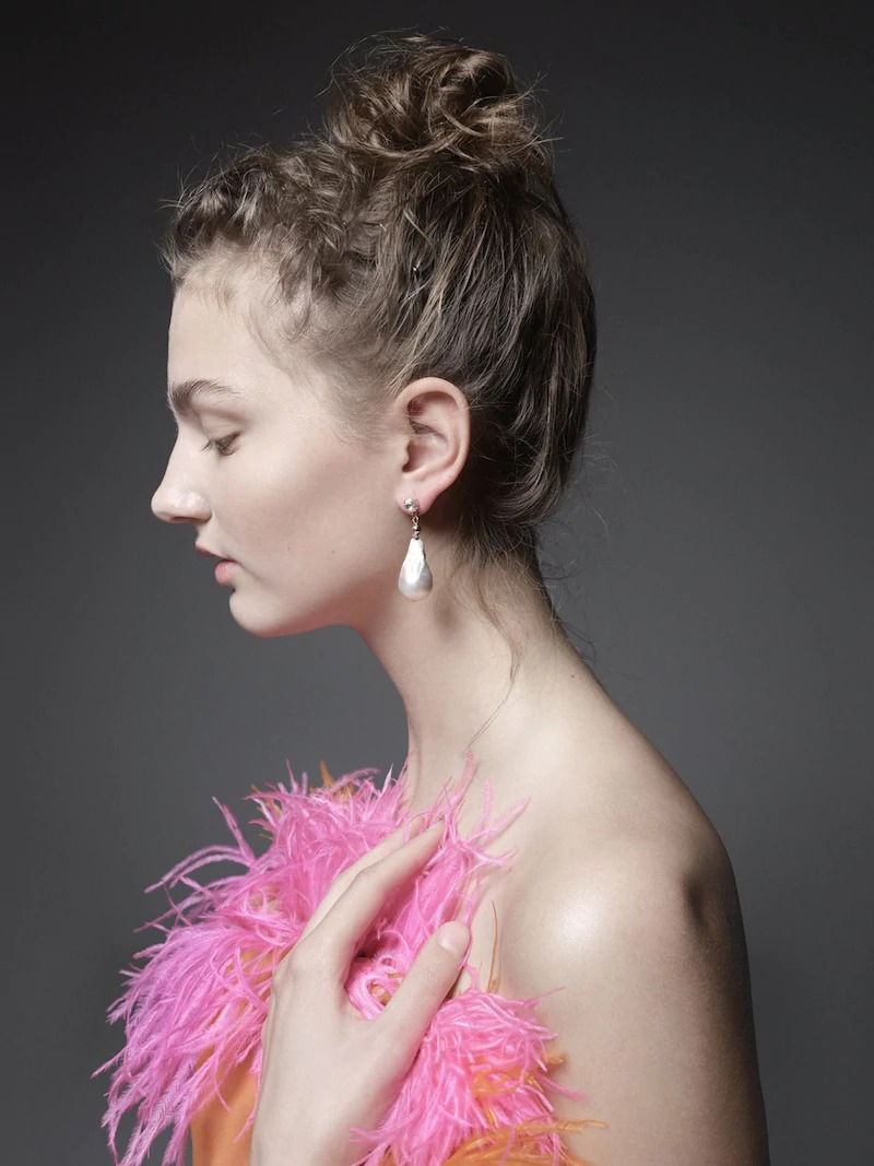 Ca&Lou Domitilla Baroque Pearl Earrings