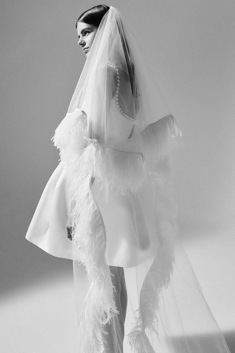 Christopher Kane Cupcake Crystal-Embellished Satin Mini Dress