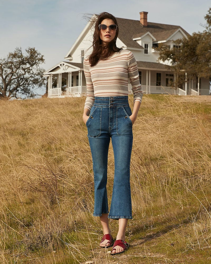 FRAME Le Crop Flare Triple Waist Jeans
