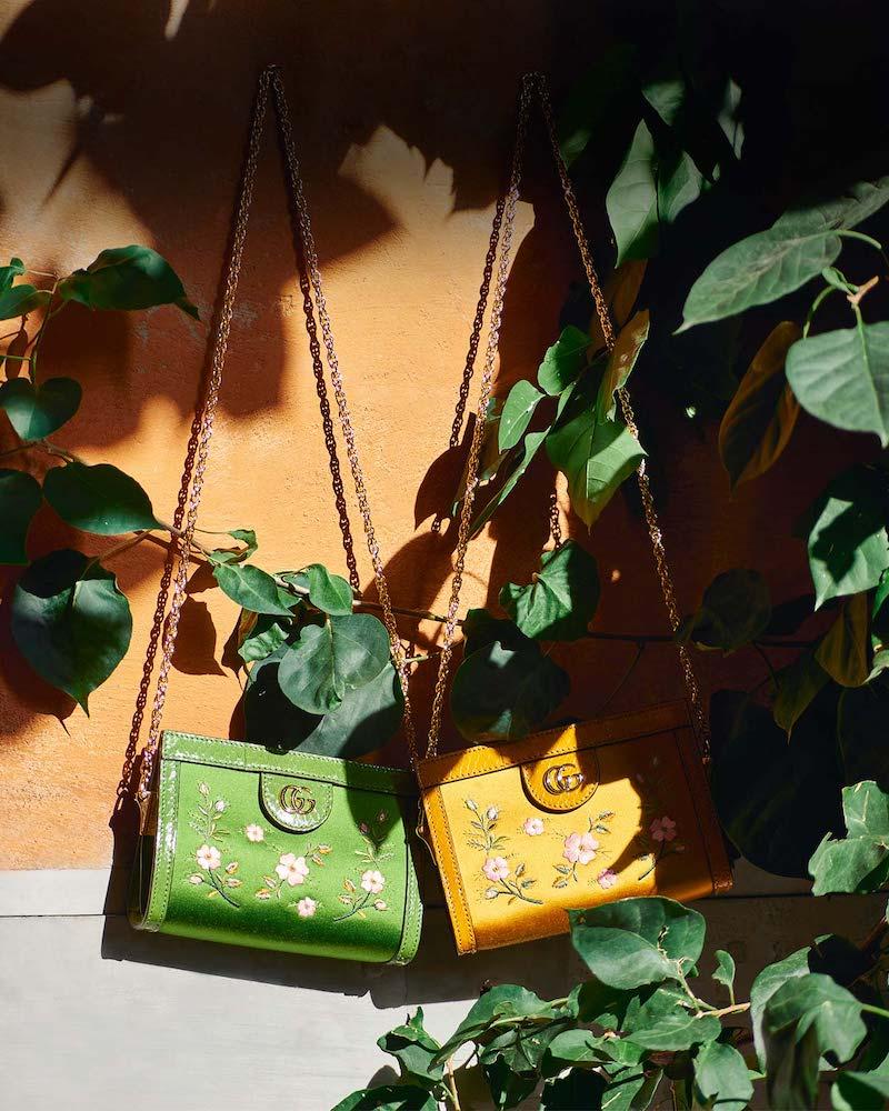 Gucci Ophidia Embroidered-Satin Shoulder Bag