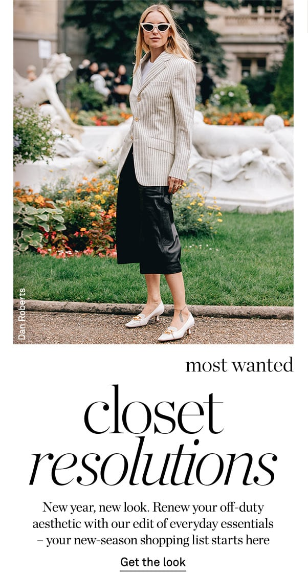 NET-A-PORTER The Chic List January 05, 2020