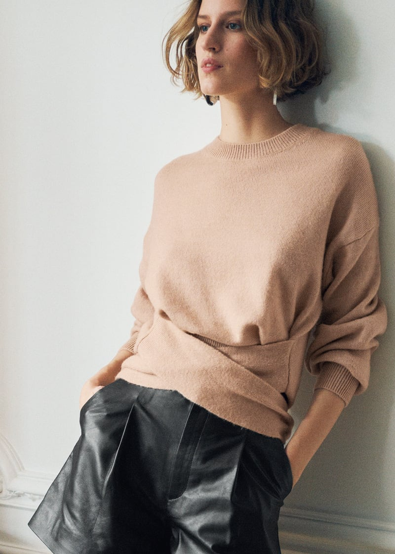 & Other Stories Belted Wool Blend Knit Sweater