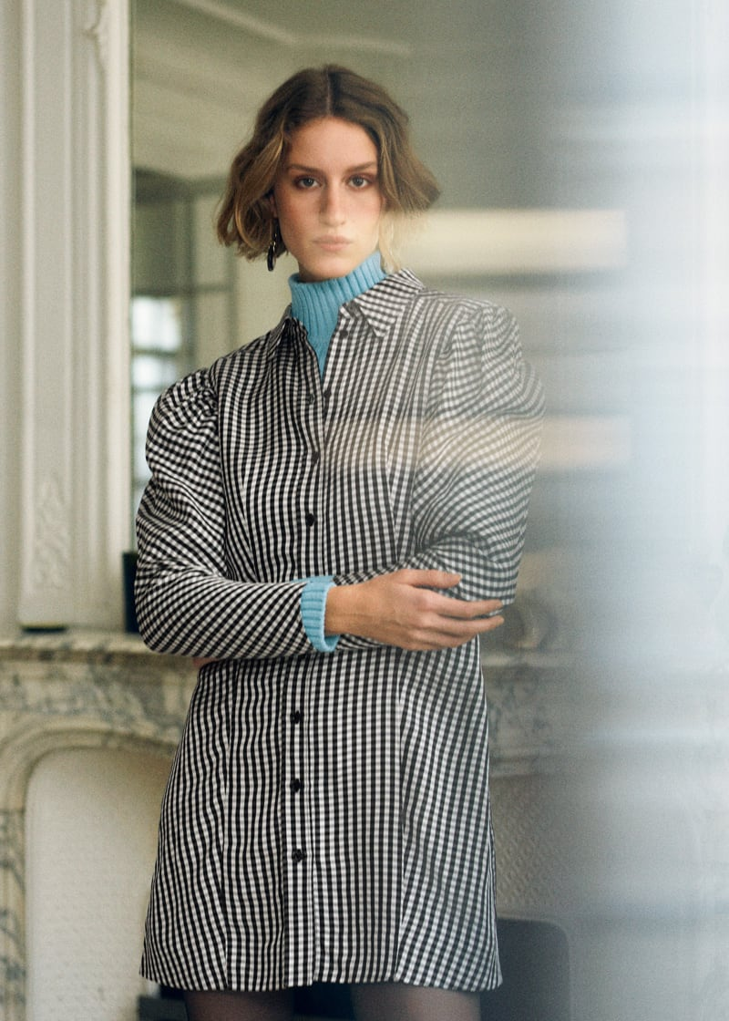 & Other Stories Gingham Mini Shirt Dress