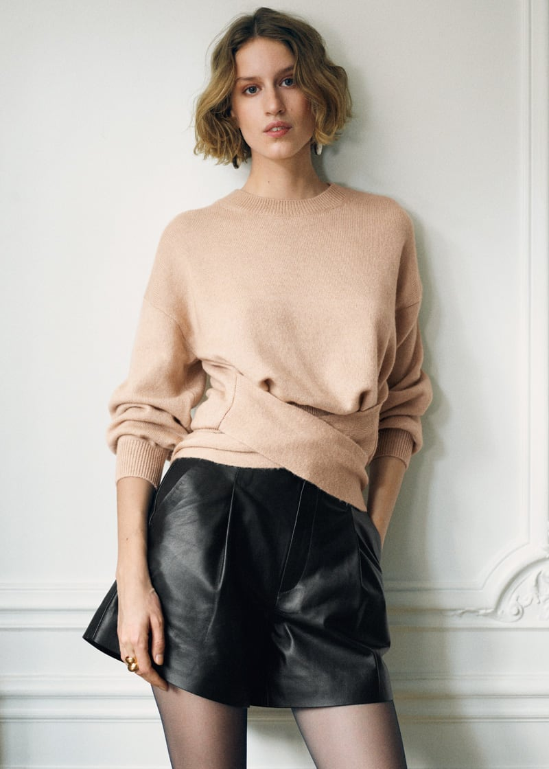 & Other Stories Tailored Leather Shorts