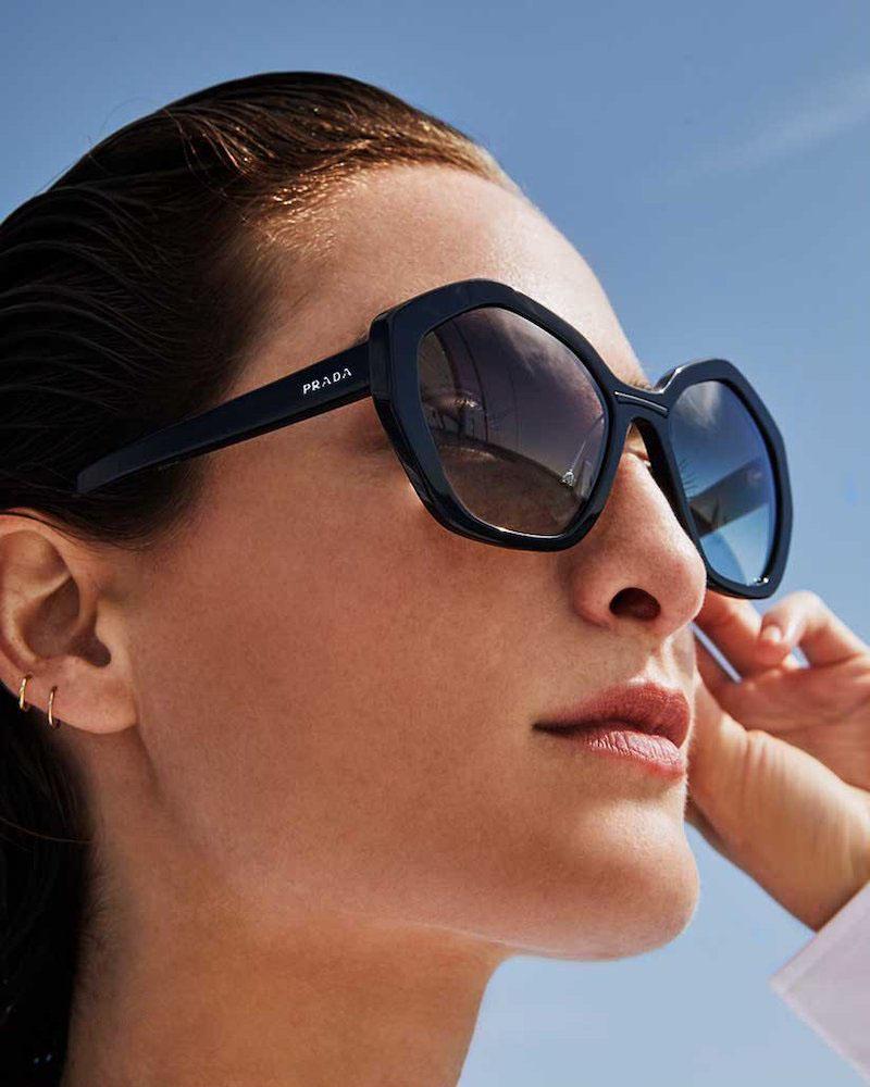 Prada Rectangle Gradient Acetate Sunglasses