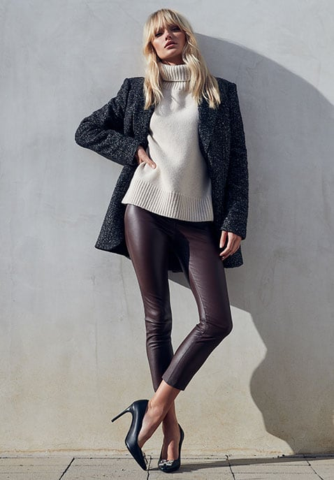SPRWMN High Waist 3-4 Leather Legging