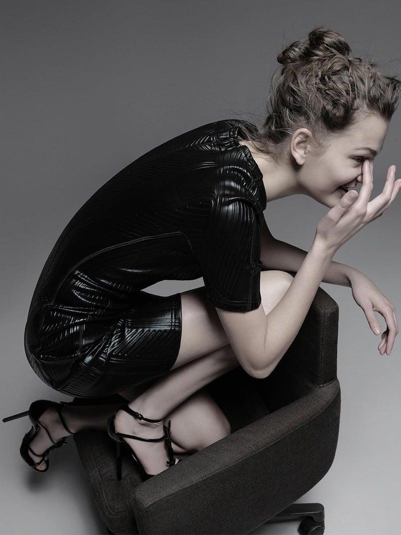 Saint Laurent Cassandra Platform Sandals in Patent Leather With Black Logo