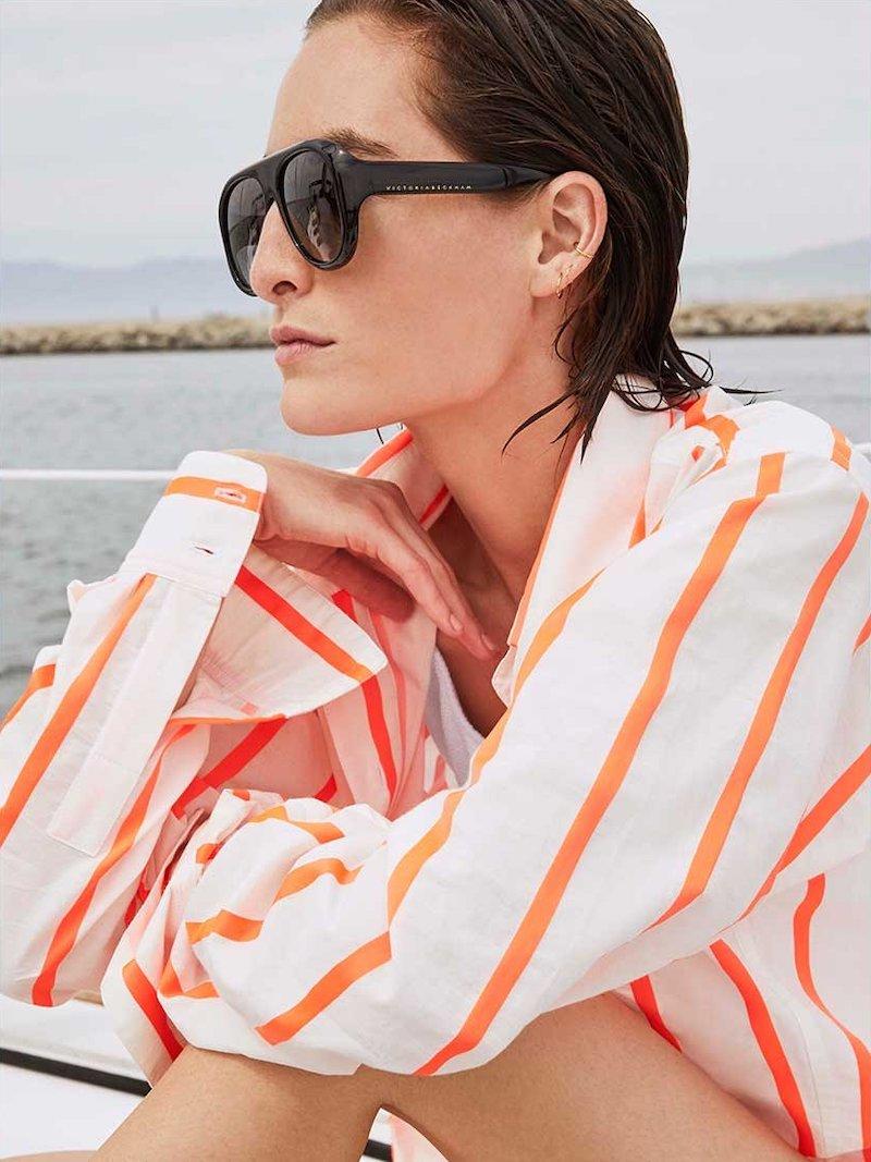 Victoria Beckham VB141S Aviator-Style Sunglasses