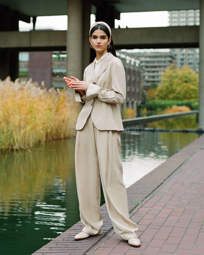 Wales Bonner Wide-Leg Tailored Trousers